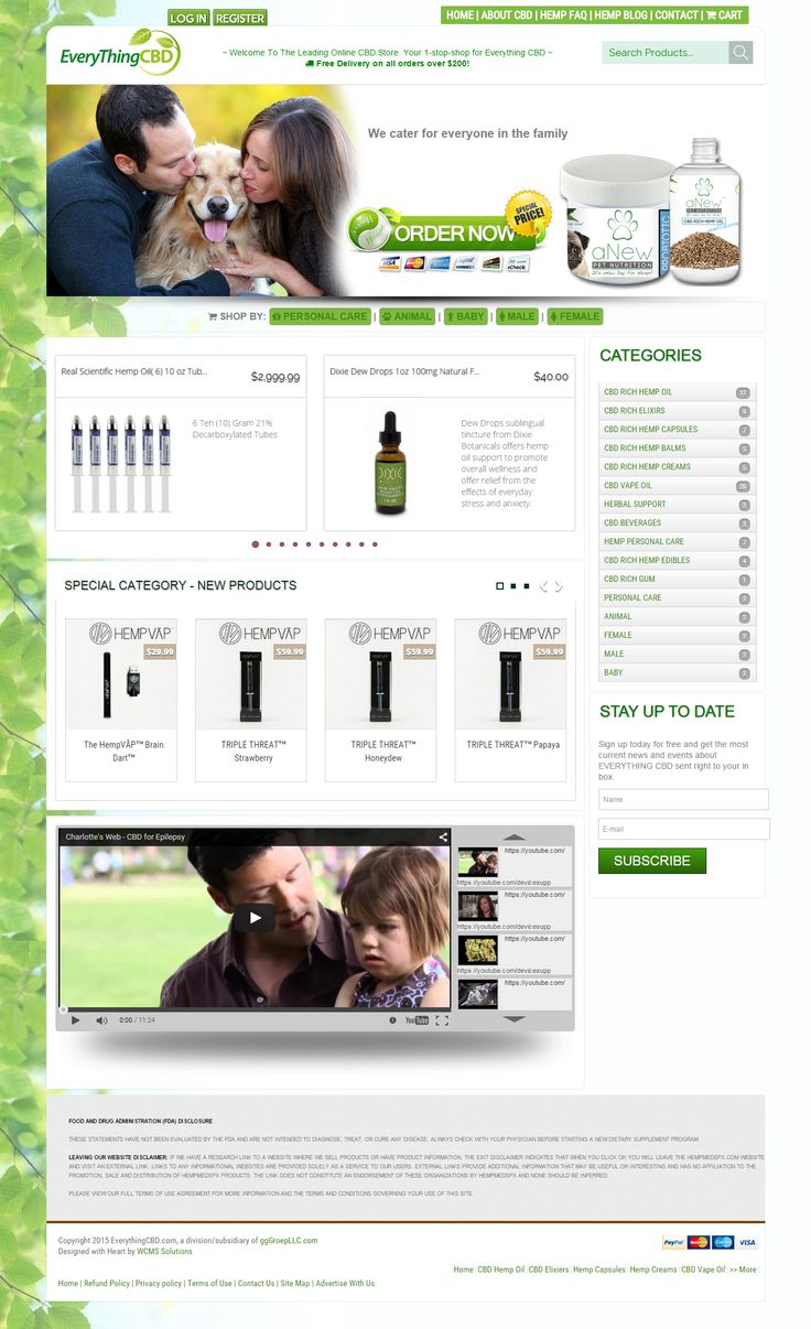 Welcome To The Leading Online CBD Store. Your 1-stop-shop for Everything CBD. CBD stands for cannabidiol, the most prominent naturally-occurring cannabinoid component found in Hemp. It comprises up to 40% of the plant. goo.gl/LWfemY