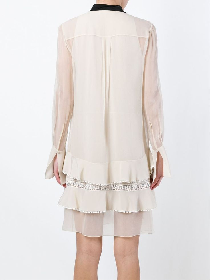 Chloé embroidered pussy bow dress