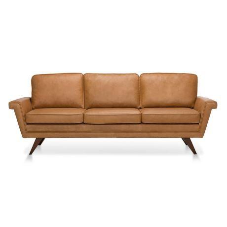 ALBA 3 seat leather sofa