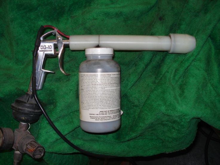 Powder Coating Gun by Hemi43 -- Homemade powder coating gun machined from nylon and patterned after a commercial unit. http://www.homemadetools.net/homemade-powder-coating-gun-4