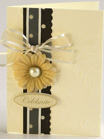 simple embossed card