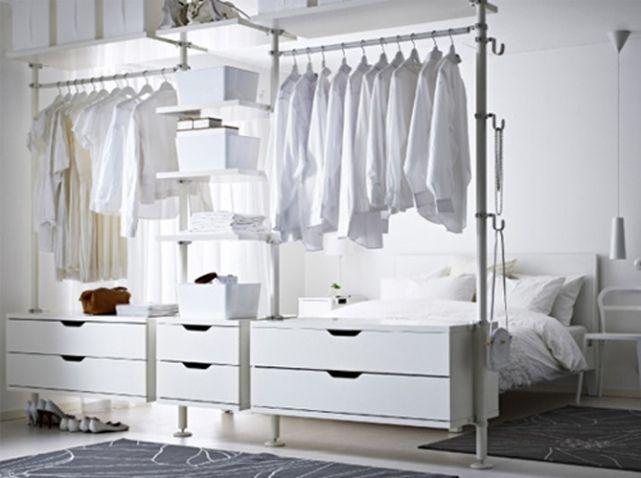 15 id es de dressings pour un petit appartement assaisonnement - Dressing ouvert ikea ...
