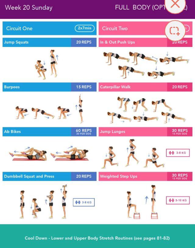 BBG (Bikini Body Guide): 24-week exercise plan (intense 28 min. workouts 3 days a week)