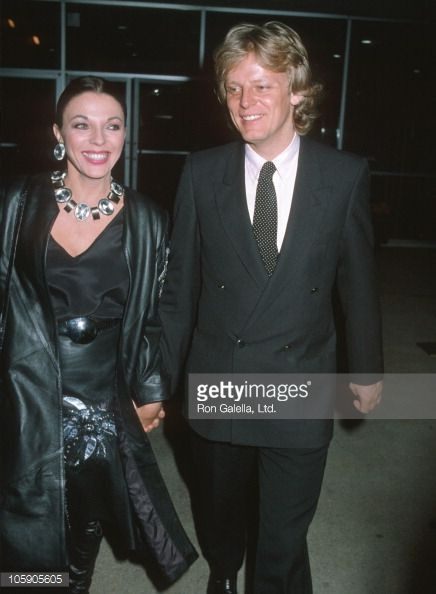 Joan Collins and Husband Peter Holm during 'Scarface' Private Screening - December 1, 1983 at National Theater in New York City, New York, United States.