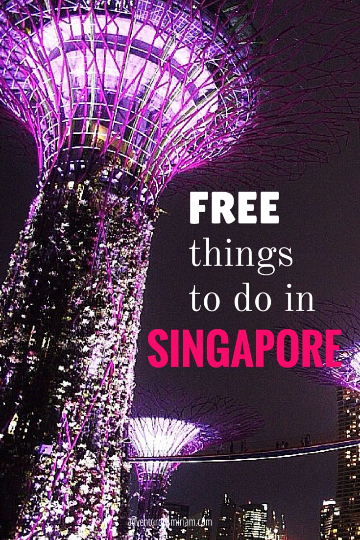 Free things to do in Singapore #Singapore #travel #asia #budget #wanderlust