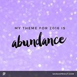 Affirmation: My theme for 2016 is ABUNDANCE. Heart this post to join our energetic circle of intention. #2016 #loa #abundance #prosperity