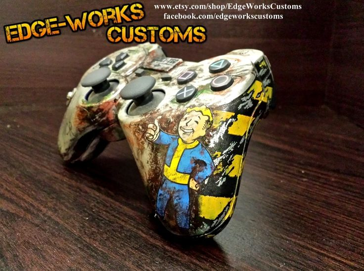 Fallout PS3 Controller by Edge-Works.deviantart.com on @DeviantArt