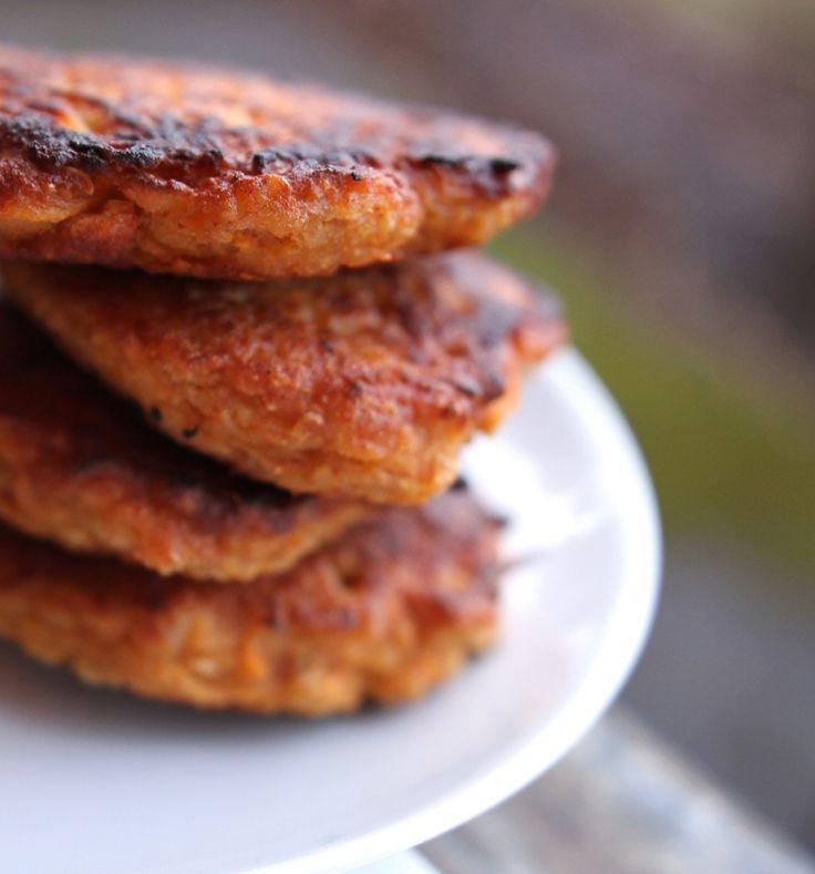 Oppskrift Veganske Middagskaker Burger Revet Søtpotet Tandoori Masala Enkel Veggisburger Hjemmelaget