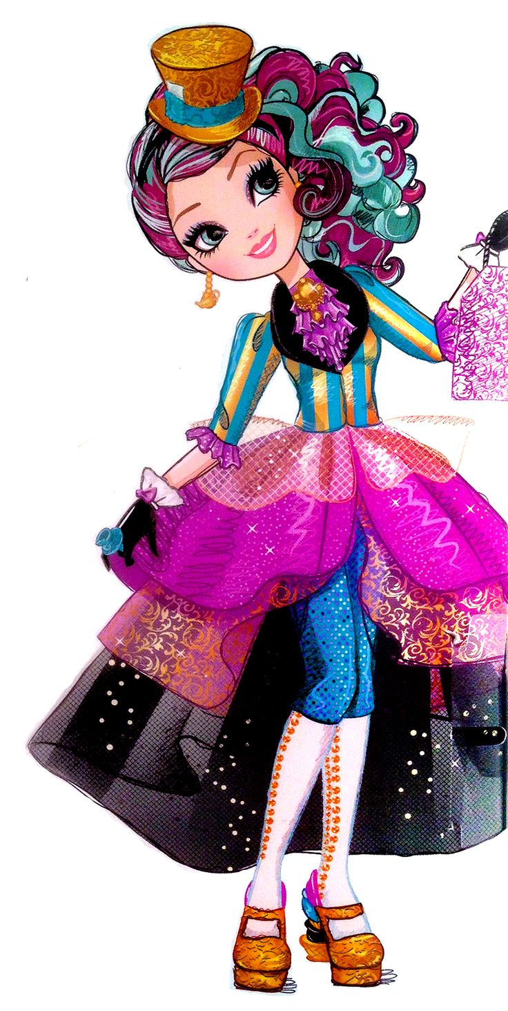 Madeline Hatter, referred to as Maddie by her friends, is a 2013-introduced and all-around character. She is part of Alice's Adventures in Wonderland as the next Mad Hatter, and she is a student at Ever After High. In the destiny conflict, she is on the Rebel side out of a general belief that people should be free to choose, though she herself is eager to follow in her father's footsteps. In fact, she spends a good portion of her free time working at the Mad Hatter's Tea Shoppe in the...