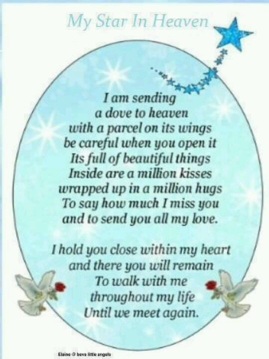 A W Memorial Poems For My Loved Ones Pinterest