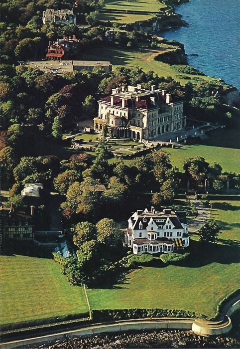 "The Breakers, Newport, Rhode Island summer ""cottage"" of the Vanderbilts...."