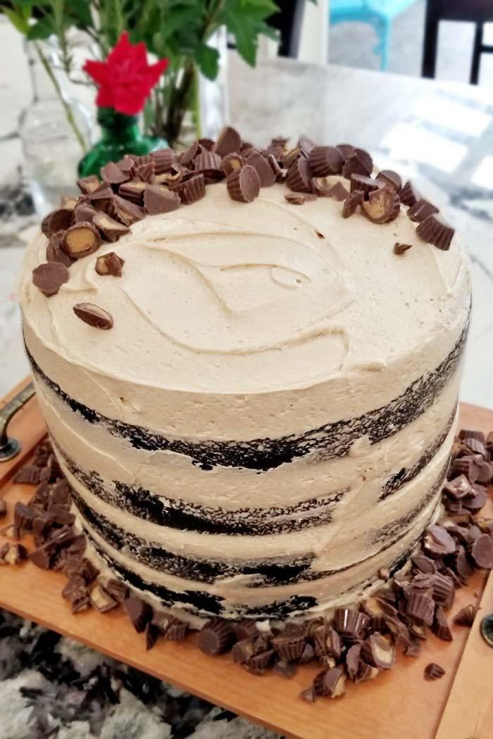 Fantastic Sky High Chocolate Peanut Butter Whiskey Layer Cake Recipe Funny Birthday Cards Online Inifofree Goldxyz