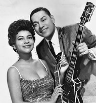 """Mickey Baker, one half of the hit-making duo Mickey and Sylvia in the late '50s and an influential guitarist whose work can be heard on hundreds of records, has died at his home near Toulouse, France.    He was 87.    NPR's Tom Cole reminds us that Mickey and Sylvia cracked the Top 20 in 1957 with a rule """"Love Is Strange."""" But he was much more than a one-hit wonder, Tom says. Baker """"added instrumental spice to records by The Coasters, Ruth Brown, Ray Charles"""" and others."""