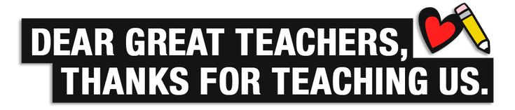 Submit thanks to the most important teachers...