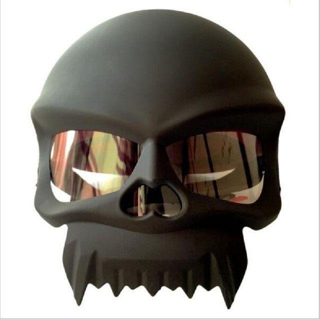 bad a.s.s.DOT approved Skull motorcycle helmet