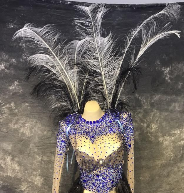 Model Feather Butterfly Dance Costumes Popular Ostrich Feathers Fancy Costume Stage Drama Costumes Angel Wings Pa Fancy Costumes Ballet Costumes Dance Costumes