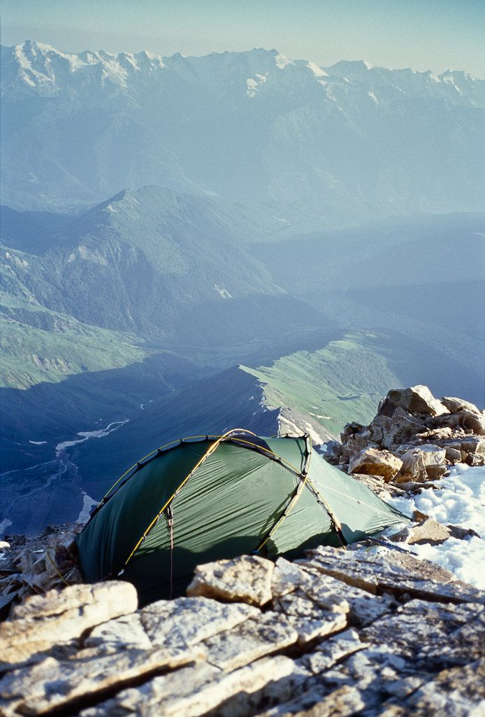 Ushba Mountains, Georgia: Mountain, The Edge, Tent, Camps, The Great Outdoor, View, Places, Travel, Hiking