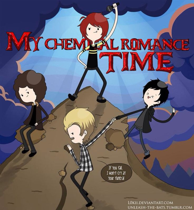 I love how Mikey is sorta dramatic and then you have Frank being freakin adorable, and Ray's just chillin and Gee is standing like the sassy queen he is at the top of Mt. Emo | //pintrest: @LivingColor03//