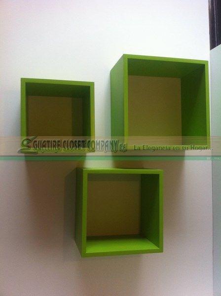 Cubos Q-Box No. 3 Elaborada de Melamina   en variedad de colores.