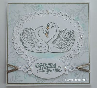 swan wedding card