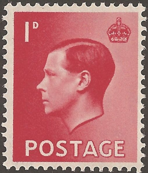 King Edward VIII one penny stamp    I feel like I would put this up in my bathroom, or someplace really inappropriate for a portait.