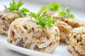 Очень мне нравится сочетание шампиньонов и кальмаров. Его замечательно можно использовать в порционном салатике на какой-нибудь праздник. ...