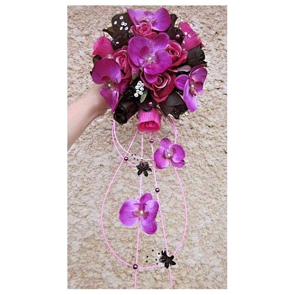 bouquet de mari e tombant fait la main avec des fleurs. Black Bedroom Furniture Sets. Home Design Ideas