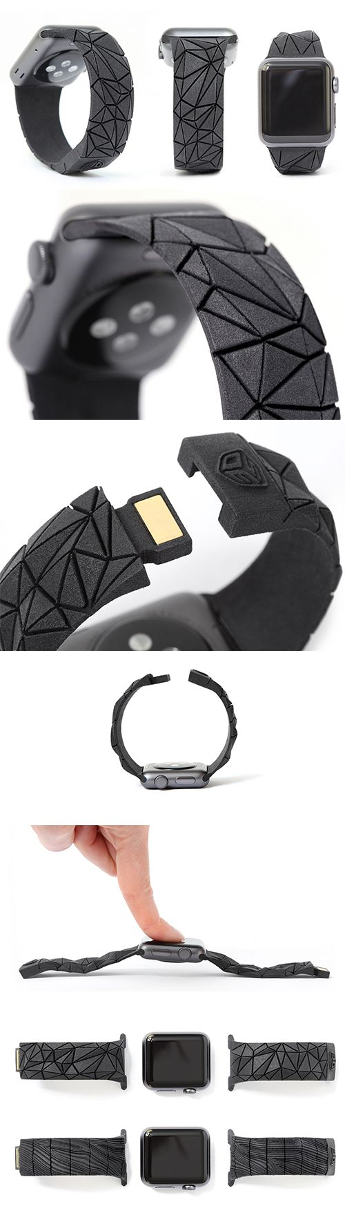 3D Printed Flex Bands for Apple Watch designed by Maria Cichy //
