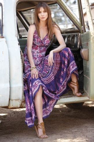 Gypsy maxi dress. Every woman should have a dress like this, in my opinion. So very feminine and free.