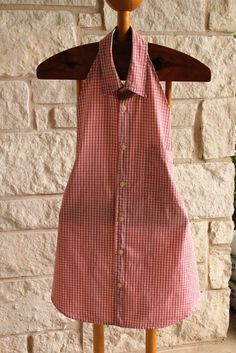 My Junk Obsession: How to Make an Apron from an Old Dress Shirt