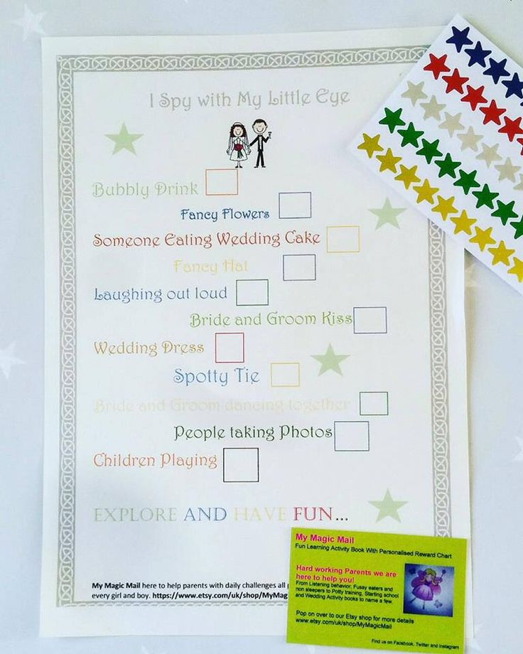 Wedding favour, Children's wedding activity book, Wedding I spy game, wedding games, wedding stationary, wedding centre peace, wedding plan by MyMagicMail on Etsy https://www.etsy.com/uk/listing/520547261/wedding-favour-childrens-wedding