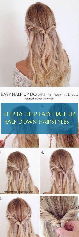 Schritt für Schritt einfach halb hoch halb runter frisuren