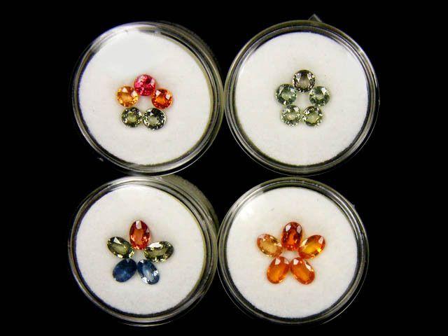 FOUR  MIX  PARCEL  SAPPHIRES 11.15  CARATS  TW 1136 sapphires