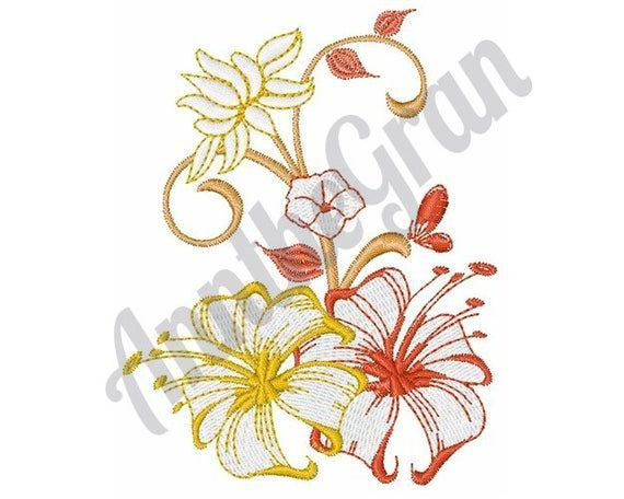 Hibiscus Embroidery Hibiscus Embroidery Hibiskusstickerei Broderie In 2020 Flower Embroidery Designs Machine Embroidery Designs Free Embroidery Patterns Machine