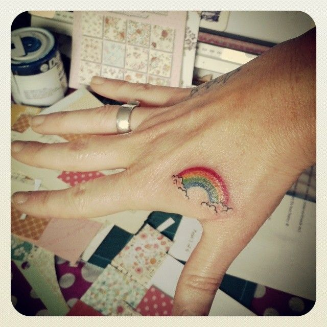 rainbow magic on my hand...
