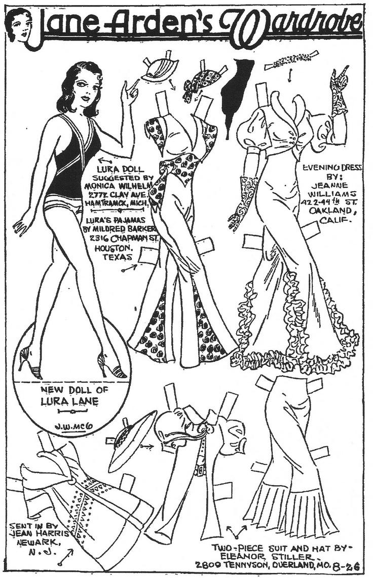 332 best Jane Arden Paper Dolls images on Pinterest   Vintage paper ...