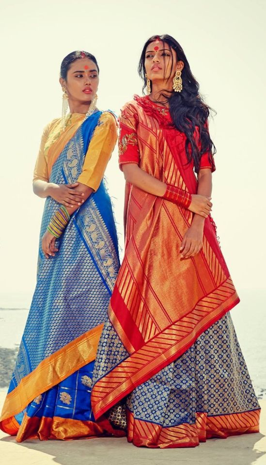 Love the way it is draped. Gaurang Shah sarees. Indian fashion