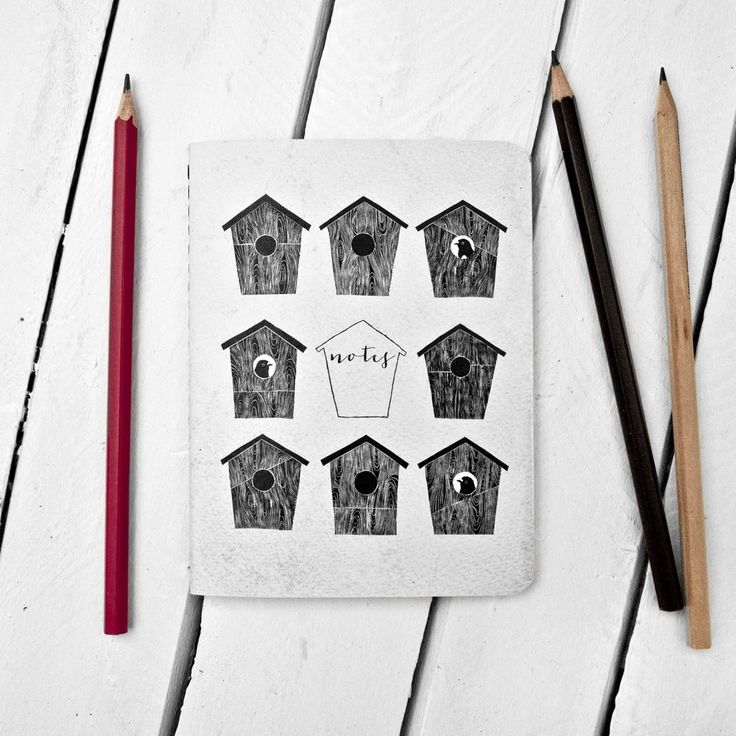 Image of Nine Birdhouses Notebook