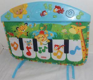 Fisher Price Kick & Play Safari Animals Crib Toy Baby Musical Piano toddler