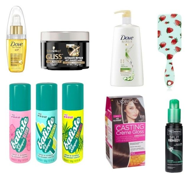 """""""Absolute Haircare Favourites"""" by beavercity on Polyvore featuring beauty, Dove, Forever 21 and Schwarzkopf"""