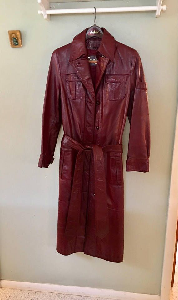 Etinne Aigner Leather Coat Trench Coat Classic Trench Coat