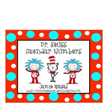 This is a set of calendar numbers.  I have included a Dr. Seuss set and a Thing 1 set so you can create a pattern if you would like.  You could als...