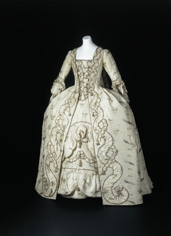 Robe a la francaise, ca. 1770.  From the State Museums of Berlin.