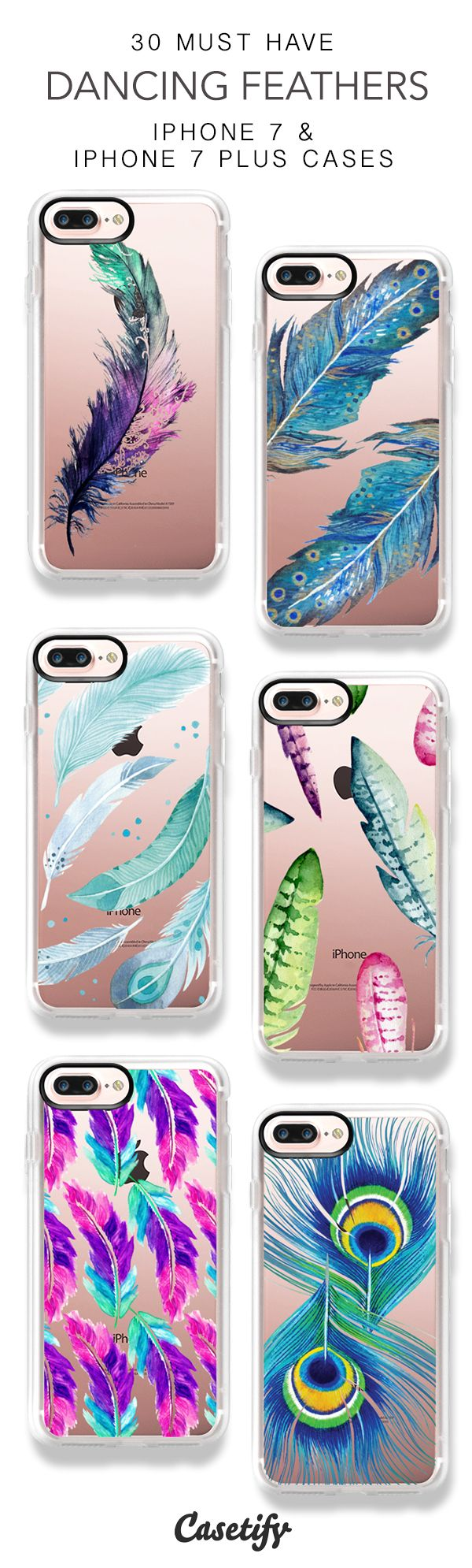 30 Must Have Dancing Feathers iPhone 7 Cases and iPhone 7 Plus Cases. More Feather iPhone case here > https://www.casetify.com/collections/top_100_designs#/?vc=POBlvhpV3S