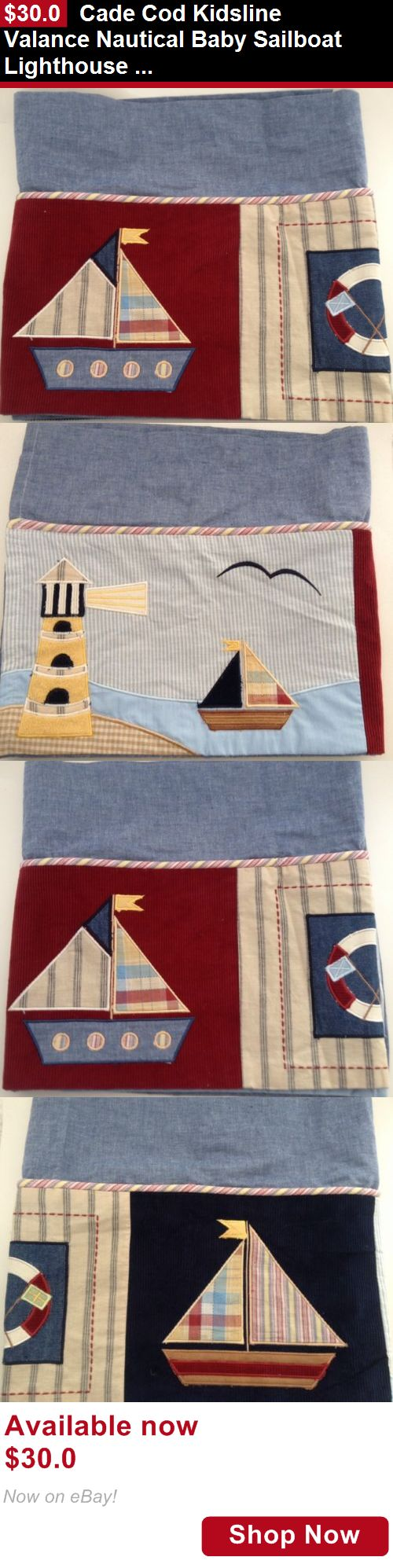 Window Treatments: Cade Cod Kidsline Valance Nautical Baby Sailboat Lighthouse Bedroom Window Treat BUY IT NOW ONLY: $30.0