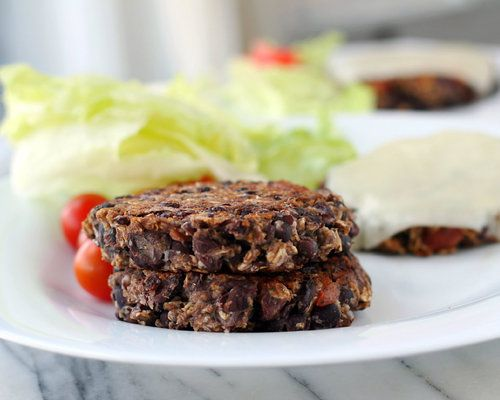 I just made these Black Bean Burgers.  I pulsed the oats in the food processor, added some dried diced onions, and substituted Italian herbs for the dried cilantro.  We enjoyed them in a sandwich with a slice of tomato and onion.