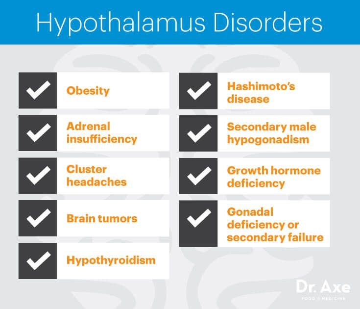 Hypothalamus disorders - Dr. Axe http://www.draxe.com #health #holistic #natural