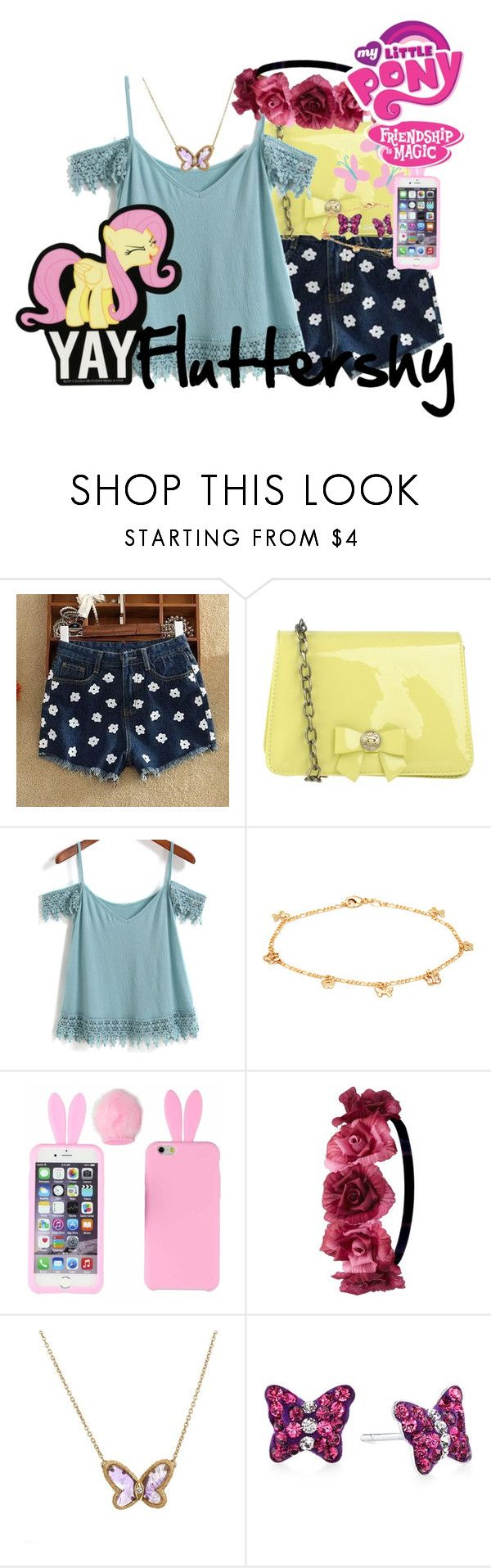 """My Little Pony - Fluttershy"" by didneyworl ❤ liked on Polyvore featuring SIDO FASHION, Darling, Cutie, Sevil Designs, Charlotte Russe, Van Cleef & Arpels, Unwritten, My Little Pony, women's clothing and women"