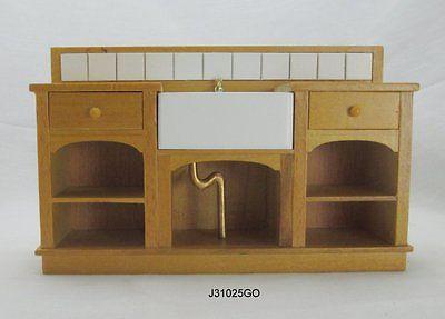 """Unusual Kitchen SINK! $72.00 """"1:12 scale large kitchen sink"""