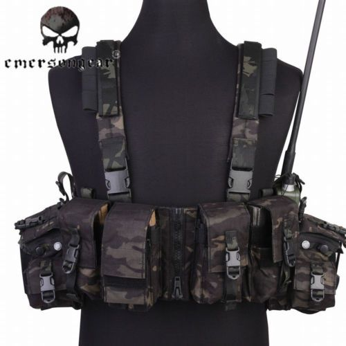 EMERSON Tactical Airsoft 500D Molle Vest Military Chest Rig Vest Tool Pouch